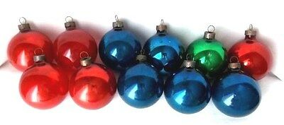 Lot of 11 Vintage Made in US of A Glass Christmas Ornaments