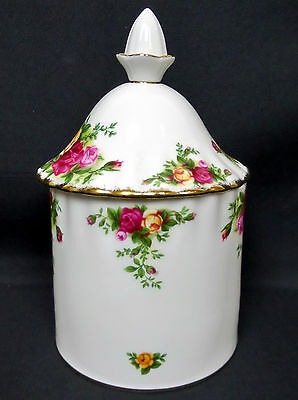 OLD COUNTRY ROSES AIRTIGHT STORAGE CONTAINER, 1st QUALITY, VGC, ROYAL ALBERT