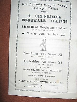 TV All Stars Northern v All Stars Yorkshire Elland Road Greyhound Stadium 1963