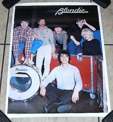 Vintage 1979 BLONDIE & BAND PHOTO MUSIC POSTER