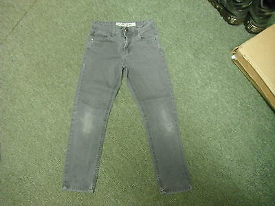 "Denim Co Slim Jeans Waist 24"" Leg 23"" Black Faded Boys 9/10 Yrs Jeans"