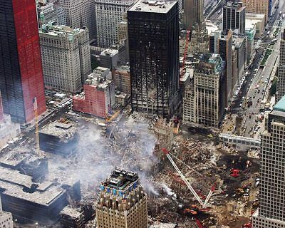 Aerial View of Cleanup 9/11 8x10 Silver Halide Photo Print