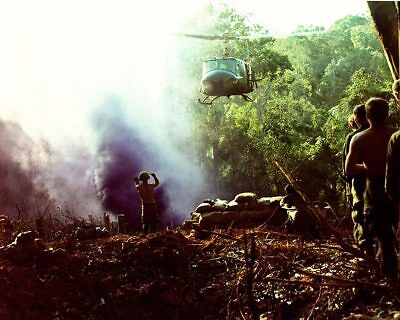 Vietnam War UH-1 Huey Helicopter on Approach 8x10 Silver Halide Photo Print