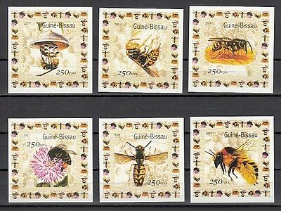 / Guinea Bissau, Mi cat. 1510-1515 C. Honey Bee issue as small s/sheets.