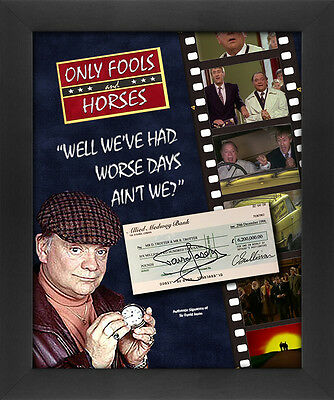 David Jason Signed £6.2m Cheque Signed Only Fools and Horses Framed Display