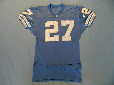 Mark Carrier circa 1997 Detroit Lions game used jersey