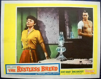 THE RESTLESS BREED MOVIE POSTER early Anne Bancroft l/c #3 1957