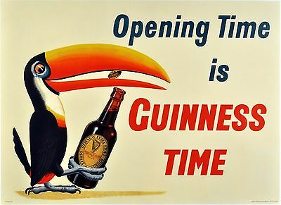 VINTAGE GUINNESS PELICAN POSTER Advertising  Home Decor Wall Art Posters