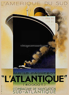 VINTAGE Art Deco Cruise Poster Retro old style home decor wall art print AT1