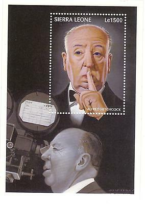 ALFRED HITCHCOCK   STAMP SHEET  from SIERRA LEONE  see scan