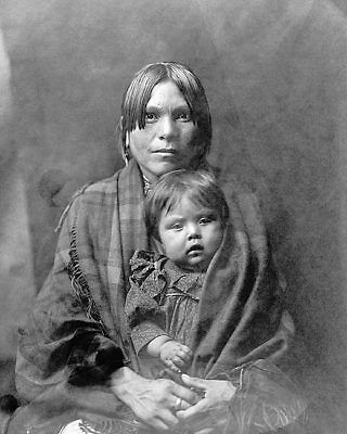 Indian Mother & Child Edward S. Curtis 1905 8x10 Silver Halide Photo Print