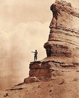 Edward S. Curtis Offering to the Sun Indian 8x10 Silver Halide Photo Print