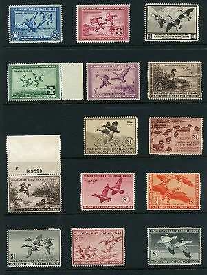 Rw1 - Rw52 Vf-Xf Nh Set Of Federal Duck Stamps Hand Selected. $10,000+ Retail