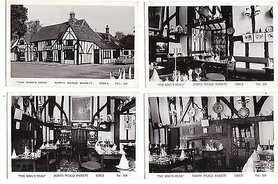 The King's Head, North Weald Bassett, 4 real photo postcards c.1950/60's