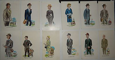 39 Postcards David Langdon Punch Horse Racing Trainers Owners etc 1950's ????