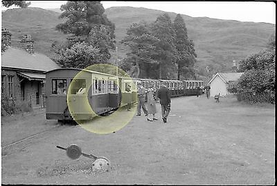 MONO LARGE NEGATIVE NARROW GAUGE RAILWAY TAN Y BWLCH  FFESTINIOG WALES 1950-60s
