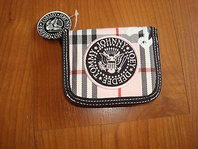 The Ramones Wallet Change Pink Purse Licensed  New Punk Rock New York