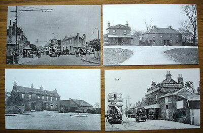 Four 1900s views of Barkingside, published c.1970s/80s. Broadway, High Street...