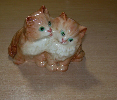 Beswick 2 cats Kittens Vintage  English ceramics. Perfect Old Lable
