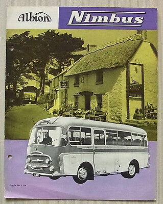 ALBION NIMBUS 31 SEATER BUS CHASSIS Sales Brochure Sept 1960 #L716