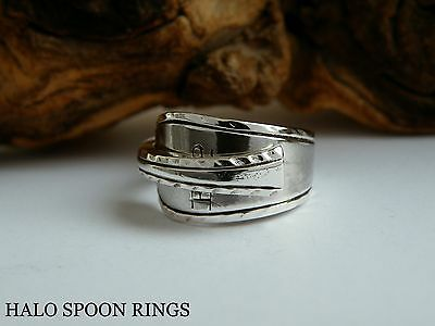 BEAUTIFUL LADIES GEORGIAN SOLID SILVER SPOON RING c1770  IDEAL MOTHERS DAY GIFT