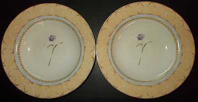 Heritage Mint Enchanted Garden Fine China 2 Rim Soup Bowls Ceramics 4a17o