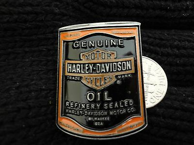 Harley Davidson Pin Genuine Oil Can Pin Hard To Get! Really Nice!!