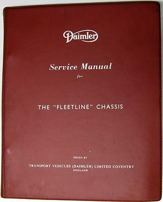 DAIMLER Fleetline Double Decker Chassis Commercial Service Manual E/1003/2 1960s