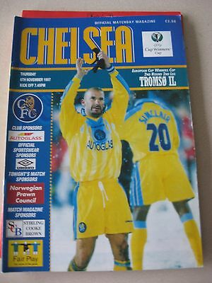 1997-98 Chelaea v Tromso IL Cup winners Cup 2nd round 2nd leg 6.11.1997