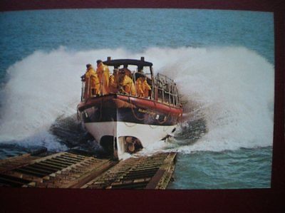 Postcard Lifeboats Selsey Lifboat Launching