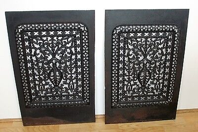 Antique Victorian Cast Iron Fireplace - Register Cover's Architectural Qty.2