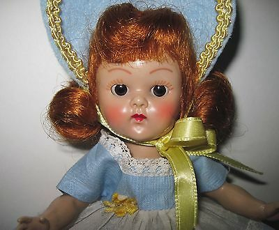 SUPERB Vintage 1954 PLW Vogue Ginny Doll Rosy Cheeks Tagged Dress FAB FACE!!!!!