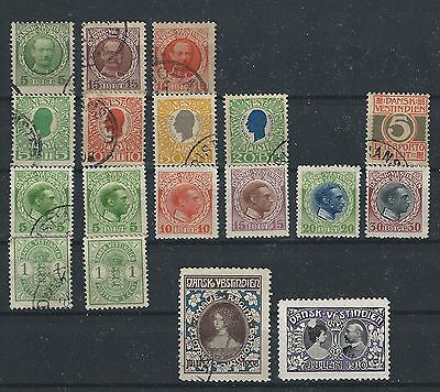 Danish West Indies Dwi Lot Stamps