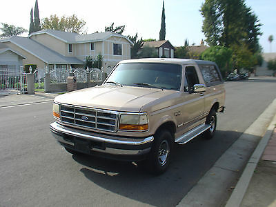 1996 Ford Bronco XLT 1996 Ford Bronco XLT CA truck 1995