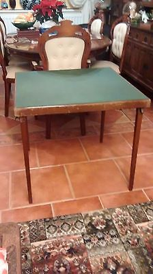 Vono Folding Green Baize Topped Card Table