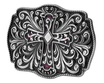 Celtic Decorative Intricate Cross Belt Buckle