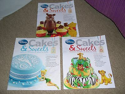 Disney Cakes & Sweets Issues 7/8/9