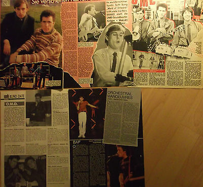 5 german clipping ORCHESTRAL MANOEUVRES DARK OMD N. SHIRTLESS BOY BAND BOYS