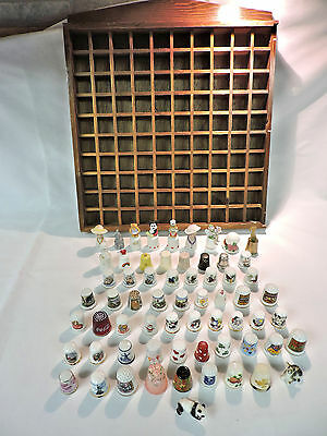 62 Thimbles & Display Rack + 2 Little extras