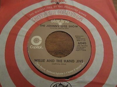 """The Johnny Otis Show - Willie And The Hand Jive - Us Reissue 7"""" Ex Nr Mint Con"""
