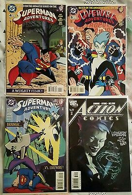 Superman Adventures 4, 5, 23 and Detective Comics 835 Livewire Appearance 1st