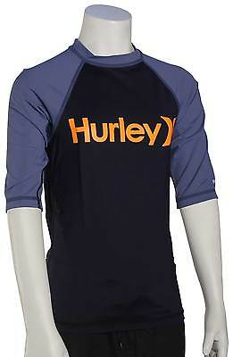 Hurley Boy's One & Only SS Rash Guard - Obsidian - New