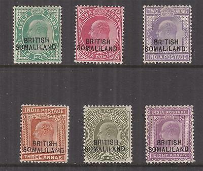 SOMALILAND PROTECTORATE, 1903 on India, KEVII, 1/2a., 1a., 2a., 3a., 4a. & 8a.