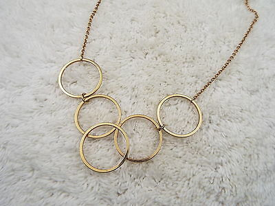 AVON Goldtone Olympic Rings Necklace (C70)