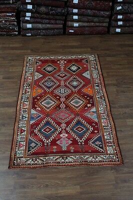 Beautiful Colorful Tribal Excellent Shiraz Persian Oriental Area Rug Sale 5x9