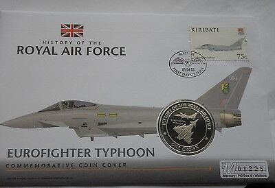 Gibraltar Crown 2008 History of the RAF Eurofighter Typhoon PNC StampCover