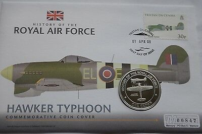 Gibraltar Crown 2008 History of the RAF Hawker Typhoon PNC StampCover