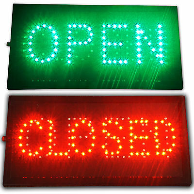 "Bright LED Open Closed Convenience Store Shop Business Sign 19x10"" Display neon"