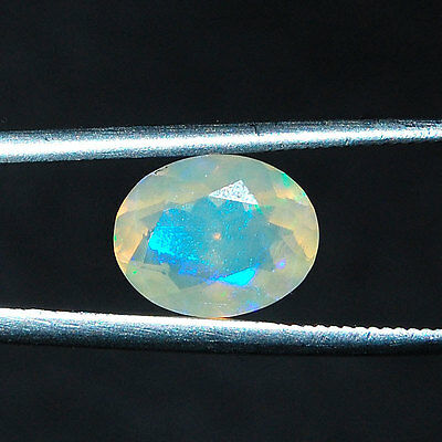 1.50 Cts Rare Ethiopian Opal ~ Vibrant Color Play Super Flashy Facetted Gemstone