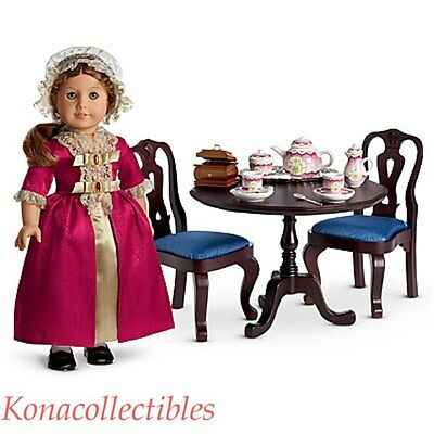 American Girl Felicity Table & Chairs New! In Original Shipper!